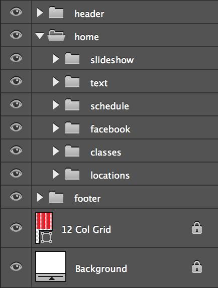 home folder with nested folders