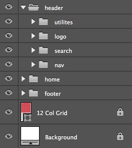 header nested folders