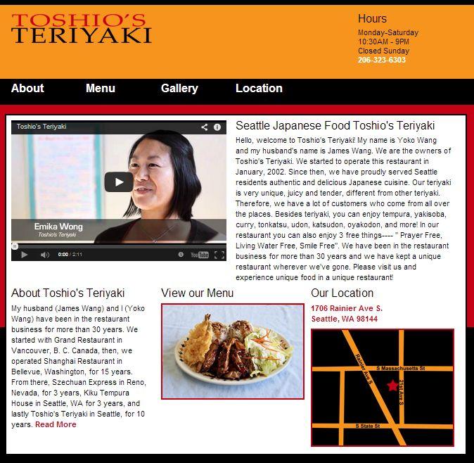 Toshio's Teriyaki